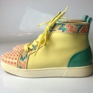 Christian Louboutin Lou Spike Flat Sneakers 37